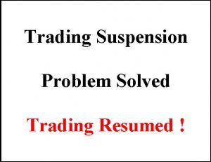 Trading Suspension - Solved - Coral Capital